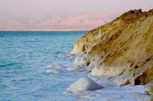 Salzkristalle im Toten Meer