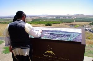 Aussichtspunkt auf den Golanhöhen Richtung Syrien